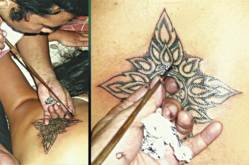 Traditional Thai style bamboo tattoos.  Fast healing and hygenic.