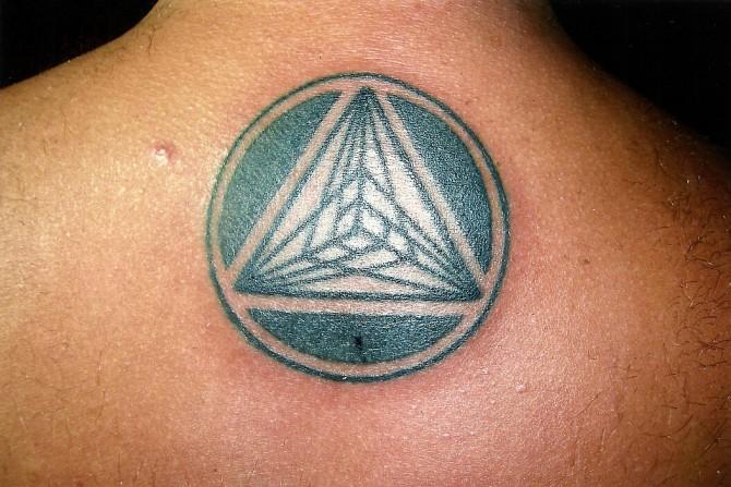 Nice Pyramid Pattern Tattoo Thailand