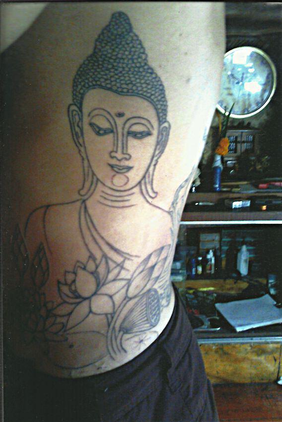 Buddha with Lotus Flowers